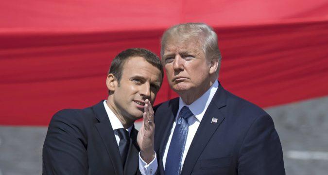 эммануэль макрон и дональд трамп